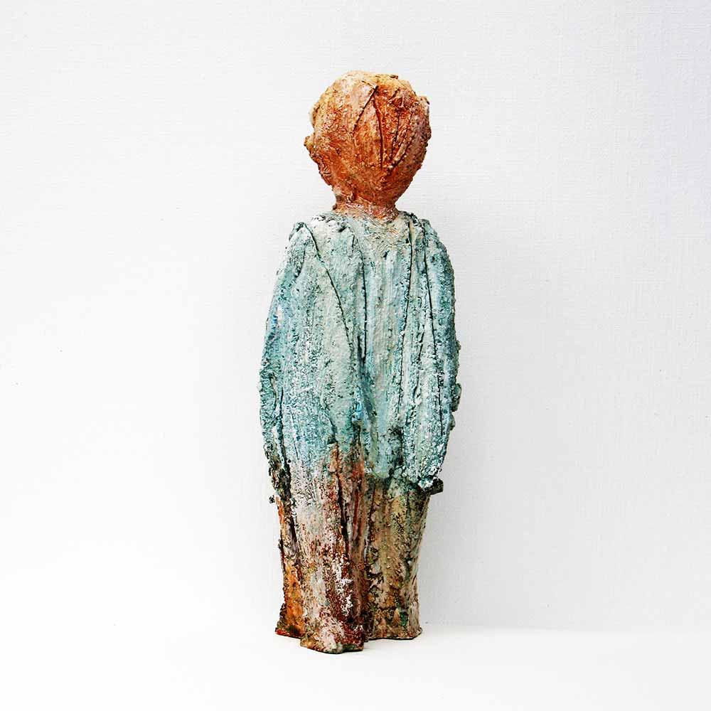 Jo Rome, sculpture, bronze peint, Liège