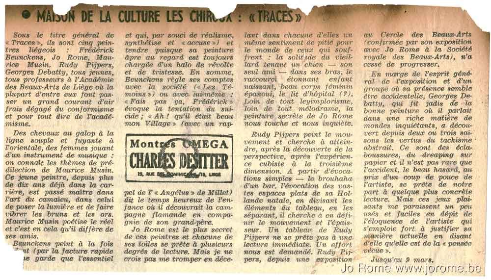 Exposition de peintures à la maison de la culture Les Chiroux, Liège
