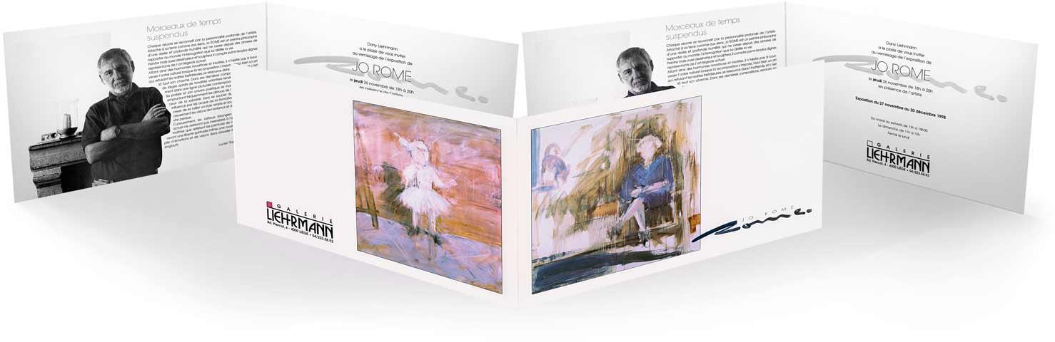 Exposition de peintures à la Galerie Liehrmann, 1998