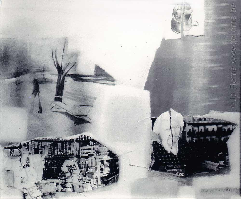 Dessins brûlés et photos déchirées, artiste à Liège