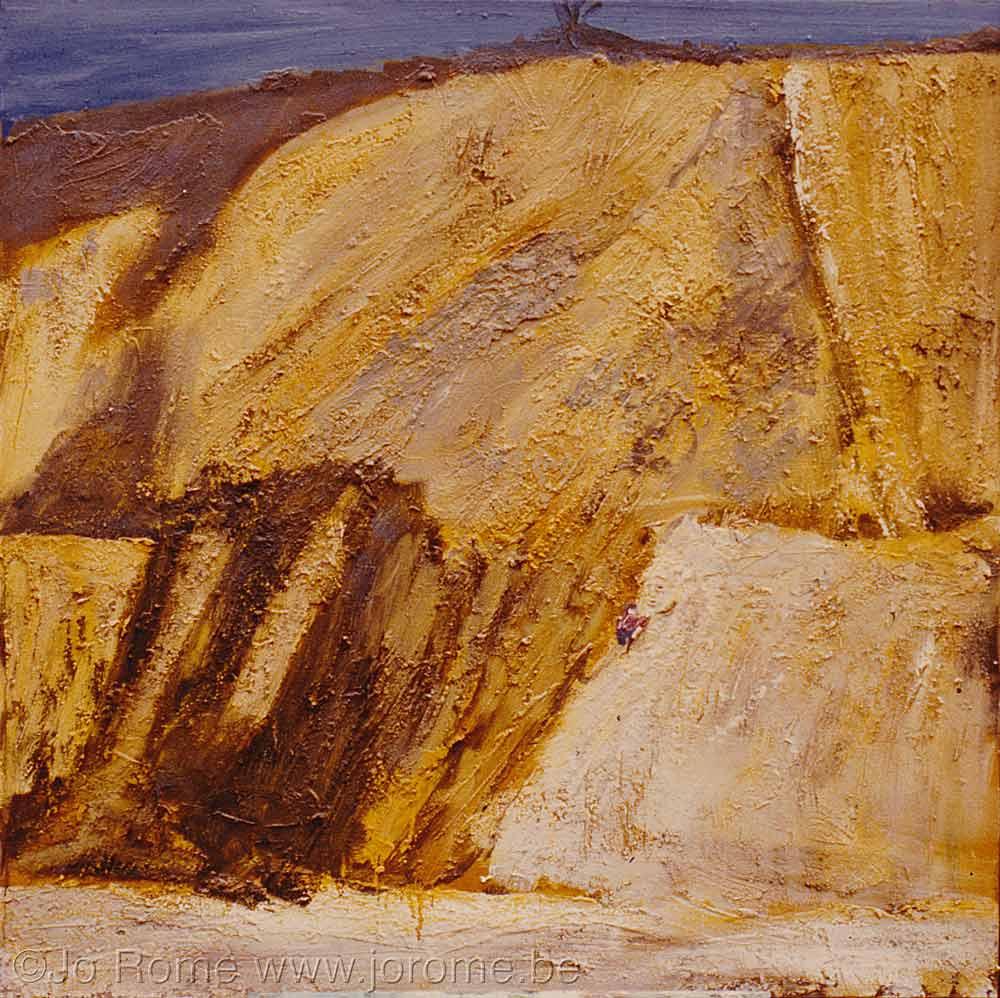 Falaises, huile sur toile, 110x110, collection ministère de la Communauté francaise de Belgique
