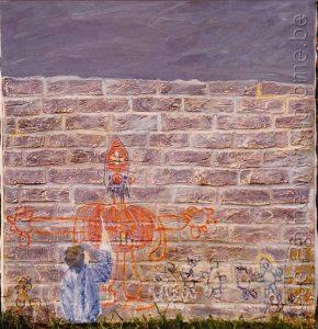 Alexandre peint Saint Nicolas, peinture de chevalet, 125x120 (art en Belgique)