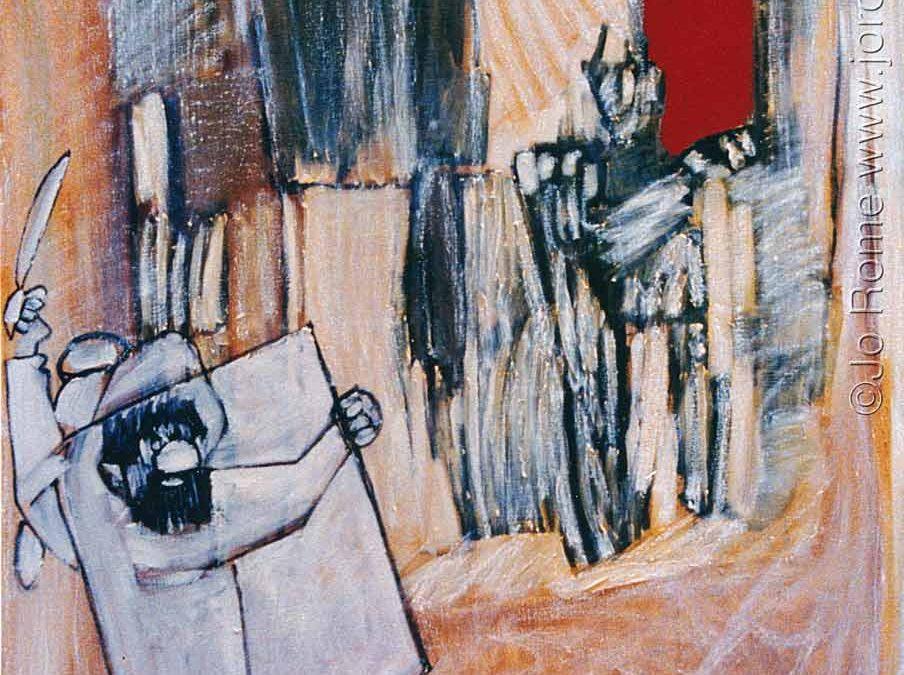 L'autodidacte, huile sur toile, 120 x 110 cm, Belgique, 1992