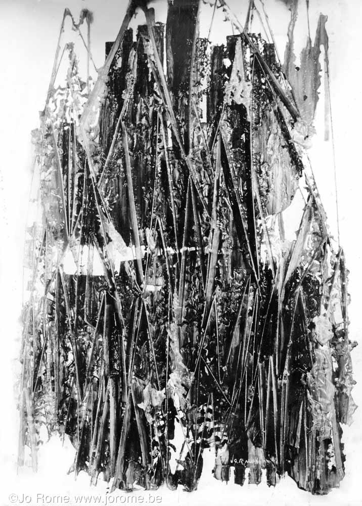 Sculpture polyestere, 1966, photographie par Hubert grooteclaes