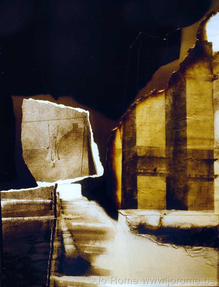 Dessin et déchirures, artiste liégeois, collection privée