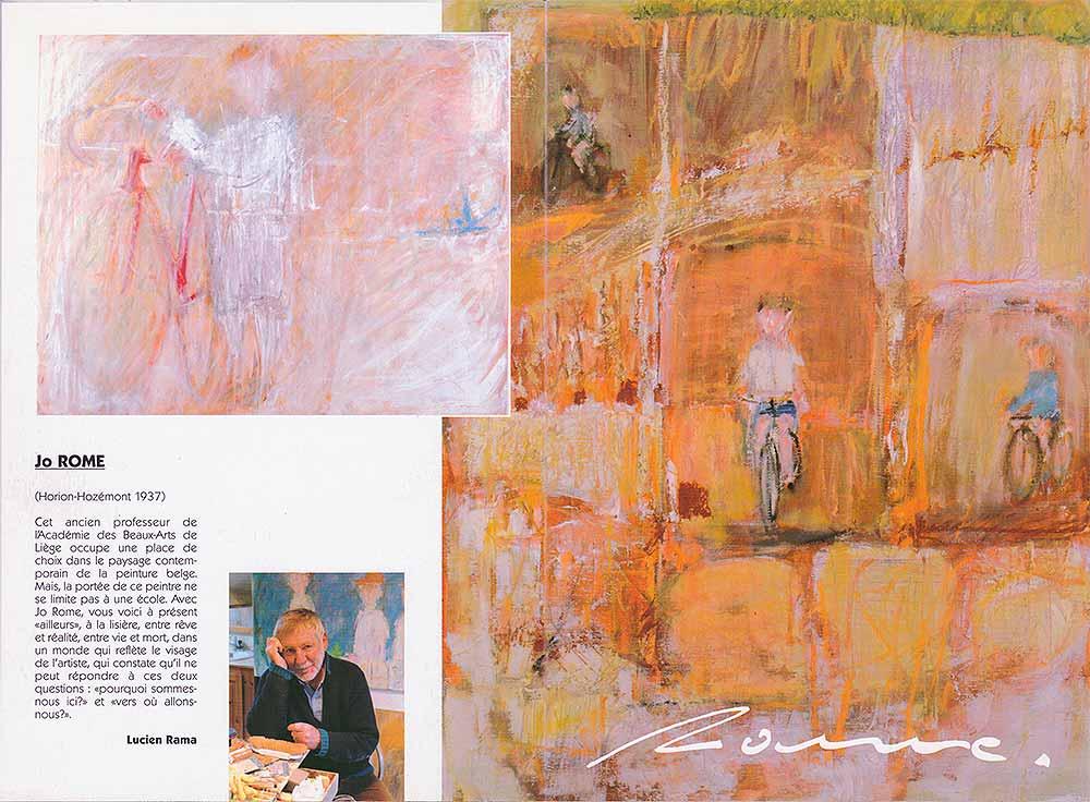 Jo Rome, dépliant de présentation de l'exposition de peintures à la Galerie Liehrmann, recto, 2006