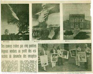 Des œuvres crées par cinq artistes liégeois vendues au profit des «Sinistrés du dimanche des enragés»