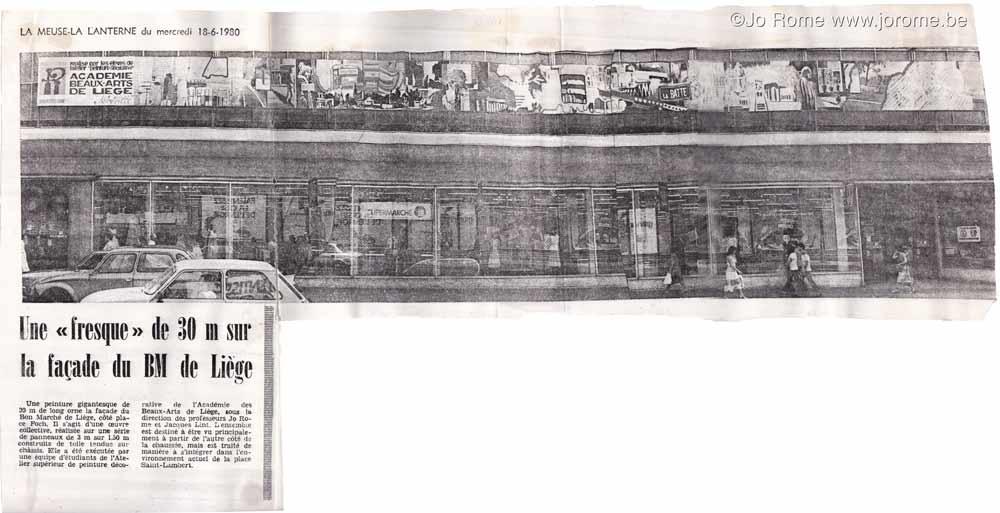 Une fresque de 30 mètres à Liège, 1980