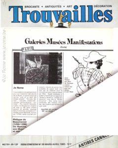 Trouvailles - Galeries, musées et manifestations culturelles, 1983
