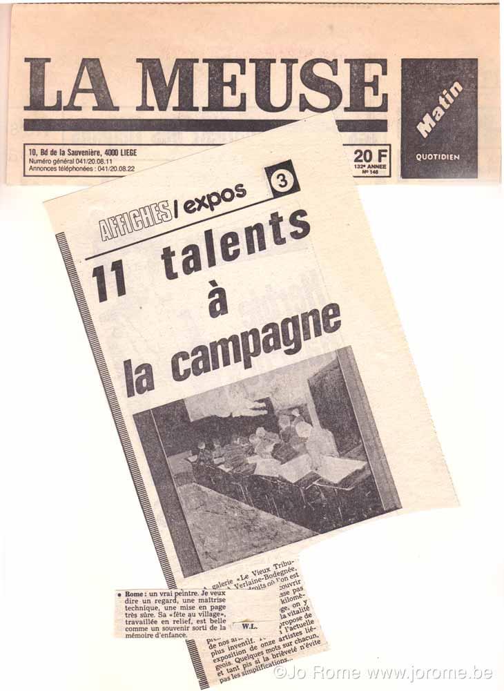 Onze talents à la campagne, 1987
