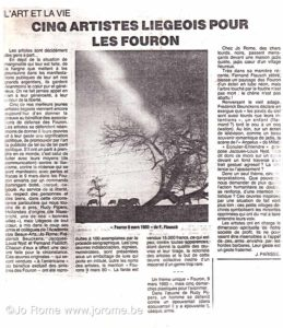 Cinq artistes liégeois pour les Fouron