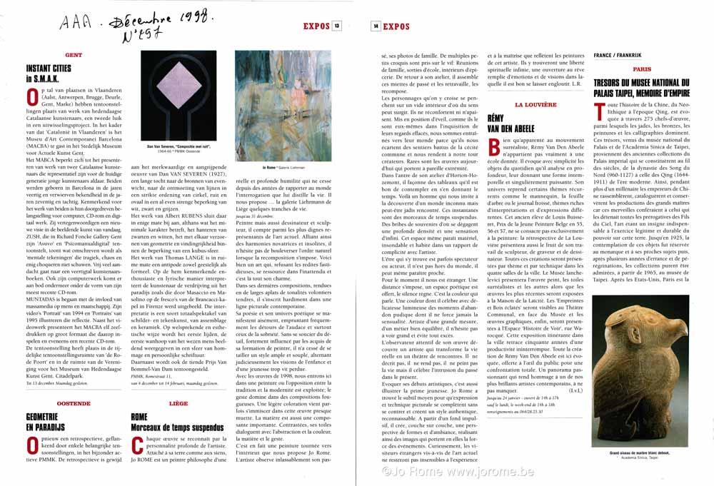 Arts Antiques Auctions, Jo Rome, article de 1998