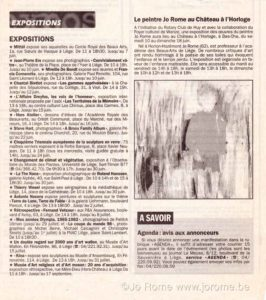 Exposition à l'Horloge, article journal La Meuse, 2000
