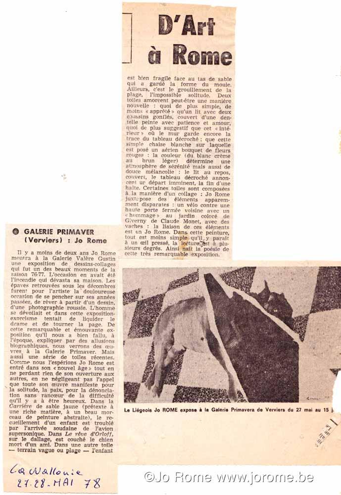 Galerie Primaver, Verviers, 1978