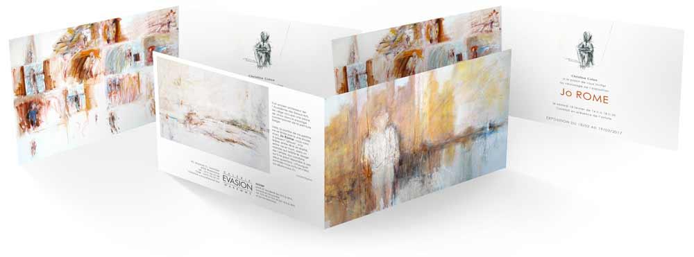 Exposition de peintures à la Galerie Évasion, Waremme, 2017