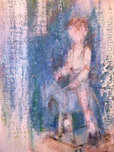 Les peintres belges, croquis préparatoire, Jo Rome