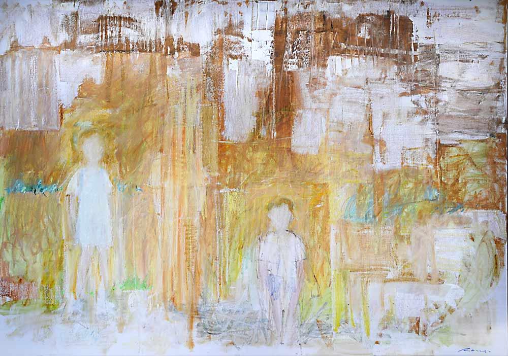 jro104 peintre belge jo rome 210x150 cm dans les ruines a taormine 2008 tg