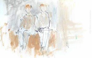 Peintres belges, croquis