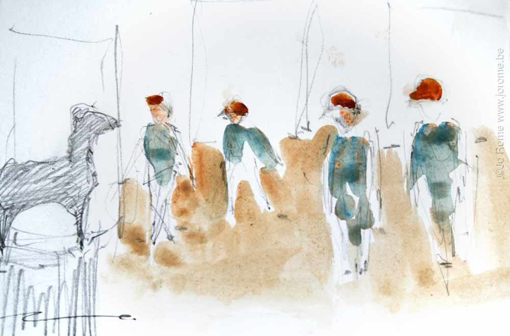 jro163 les peintres belges croquis preparatoire jo rome 7490 2012 tp