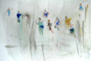 Les peintres belges croquis préparatoire, Jo Rome