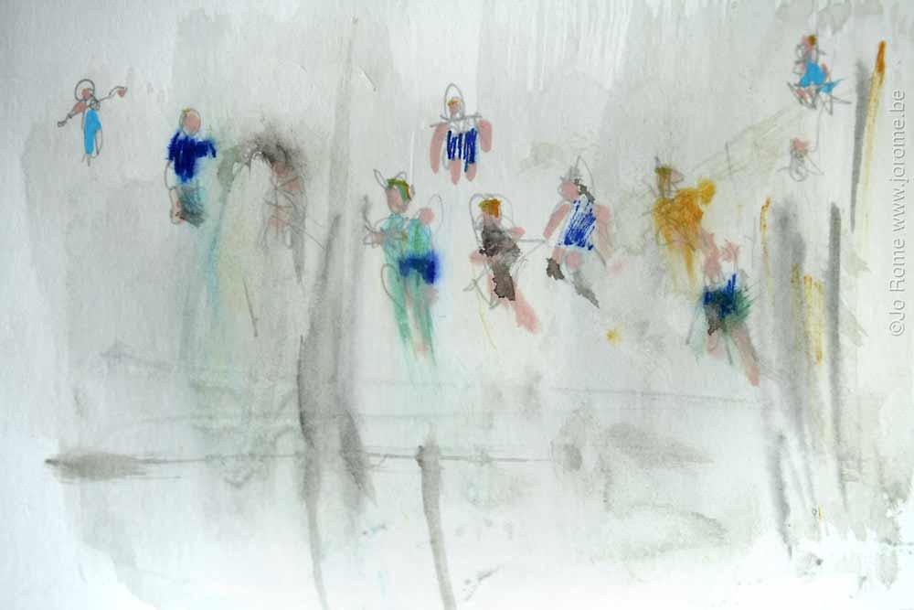 jro165 les peintres belges croquis preparatoire jo rome 7492 2012 tp