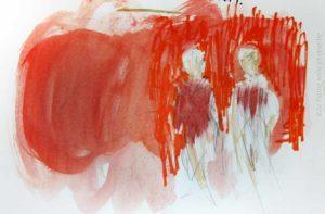 Les peintres belges — croquis préparatoire par Jo Rome