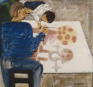 Le peintre et l'enfant au pommier