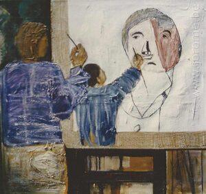Le peintre peint le peintre peignant l'enfant peignant le peintre