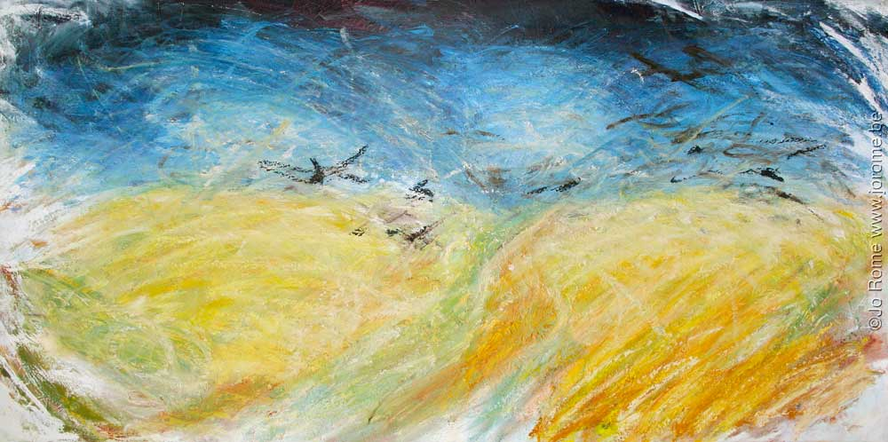 Les corneilles aux blés