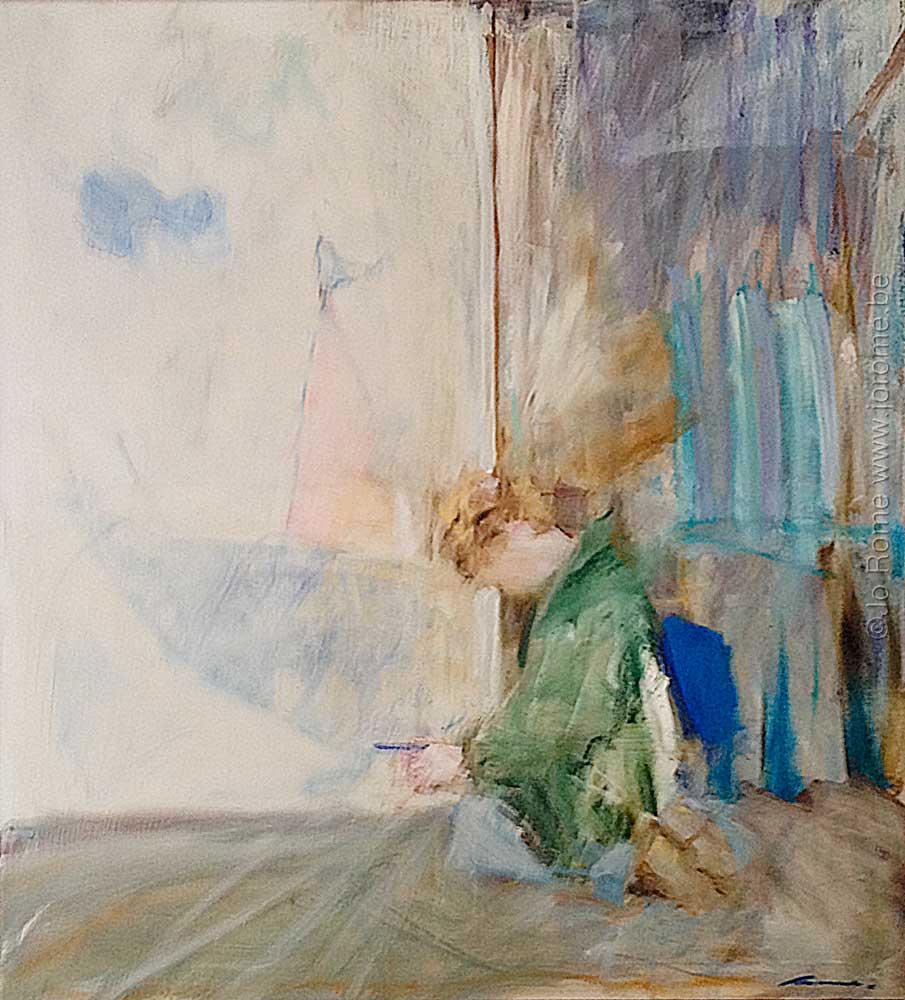 Le peintre peint l'enfant qui a peint