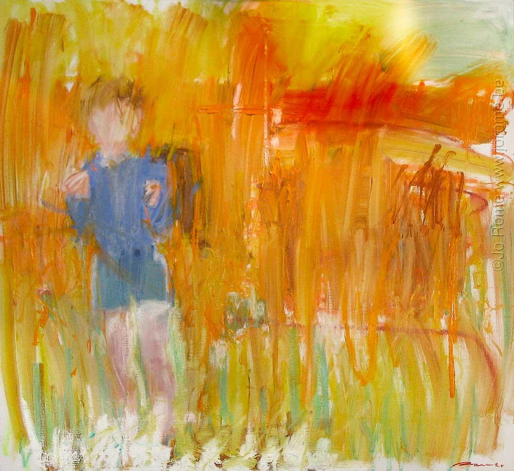 Le petit Vincent sur le chemin de l'école