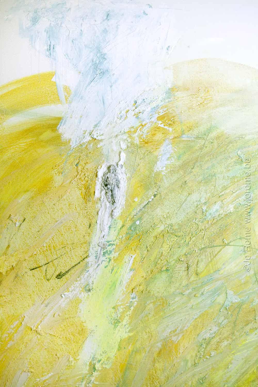 X jaune, détail