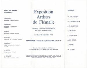 Exposition artistes de Flémalle, 1979