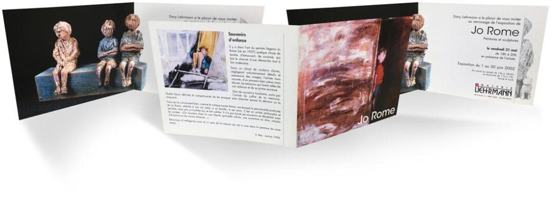 Exposition peintures sculptures, galerie Liehrmann, 2002